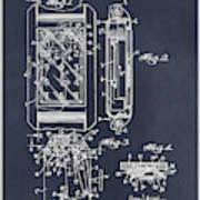 1931 Self Winding Watch Patent Print Blackboard Poster