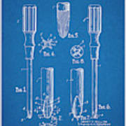 1935 Phillips Screw Driver Blueprint Patent Print Poster
