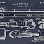1935 Union Pacific M-10000 Railroad Blackboard Patent Print Poster