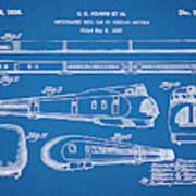 1935 Union Pacific M-10000 Railroad Blueprint Patent Print Poster