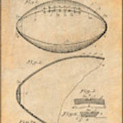 1936 Reach Football Antique Paper Patent Print Poster