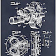 1938 Bell And Howell Movie Camera Patent Print Blackboard Poster