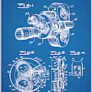 1938 Bell And Howell Movie Camera Patent Print Blueprint Poster