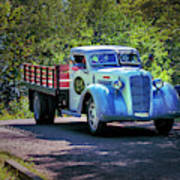 1938 Diamond T Stakebed Truck Poster