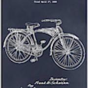 1939 Schwinn Bicycle Blackboard Patent Print Poster