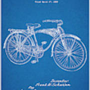 1939 Schwinn Bicycle Blueprint Patent Print Poster