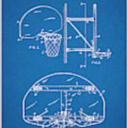 1944 Basketball Goal Blueprint Patent Print Poster