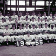 1955 Brooklyn Dodgers Poster
