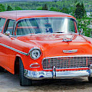 1955 Chevrolet Bel Air Nomad Poster