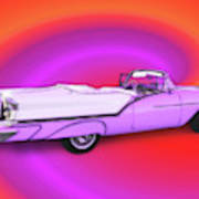 1957 Oldsmobile 98 Starfire Poster