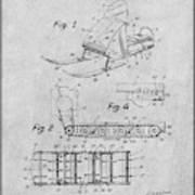 1960 Bombardier Snowmobile Gray Patent Print Poster