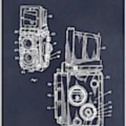1960 Rolleiflex Photographic Camera Blackboard Patent Print Poster
