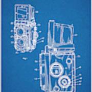1960 Rolleiflex Photographic Camera Blueprint Patent Print Poster