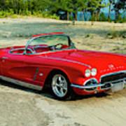 1962 Corvette Roadster Custom Poster