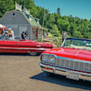 1964 And 1963 Chevrolet Impala Convertibles Poster