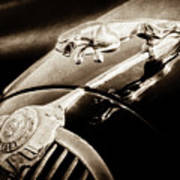 1964 Jaguar Mk2 Saloon Hood Ornament And Emblem-1421bscl Poster