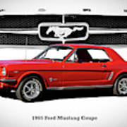 1965 Mustang 289 Coupe Poster