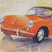 1965 Porsche 356 C Cabriolet Poster