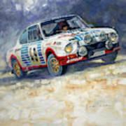1977 Rallye Monte Carlo Skoda 130 Rs Blahna Hlavka Winner Poster