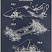1982 Bobsled Blackboard Patent Print Poster