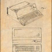 1983 Steve Jobs Apple Personal Computer Antique Paper Patent Print Poster