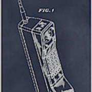 1988 Motorola Cell Phone Blackboard Patent Print Poster