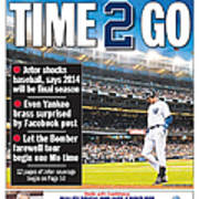 Daily News Back Page Derek Jeter Poster