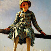 Dragonfly, Painter's Daughter Portrait Poster