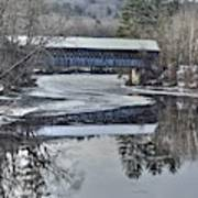 New England College Covered Bridge Poster