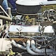 Old Car Engine Poster