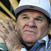 Pete Rose Speaks To Media After Poster