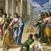 The Miracle Of Christ Healing The Blind  Poster