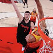 Utah Jazz V Portland Trail Blazers Poster