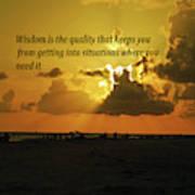 Wisdom Poster