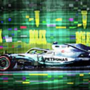 2019 Australian Gp Mercedes Bottas Winner Poster