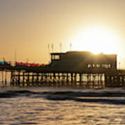 Beautiful Vibrant Sunrise Landscape Image Of Worthing Pier In We Poster