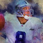 Dallas Cowboys.troy Kenneth Aikman Poster