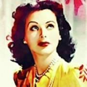 Hedy Lamarr, Vintage Movie Star Poster