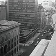 Marilyn On The Roof Poster