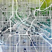 Minneapolis Minnesota City Map Poster