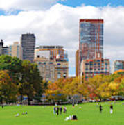 New York City Manhattan Skyline Poster