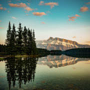 Two Jack Lake And Mount Rundle Poster