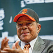 Willie Mays And The World Series Trophy Poster