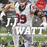 31 Teams, 1 Goal Stop J.j. Watt, 2017 Nfl Football Preview Sports Illustrated Cover Poster