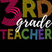 3rd Grade Teacher Light Poster