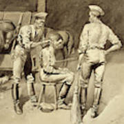 A Haircut In A Cavalry Stable Poster