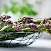 Fresh Green Asparagus Poster