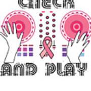 Naughty Breast Cancer Awareness Art For Women Light Poster