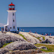 Peggys Cove Lighthouse Poster