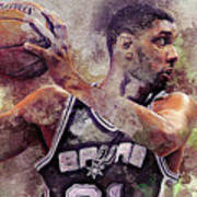 Portrait Of Tim Duncan Poster
